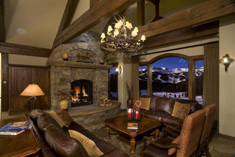 ski lodge living room