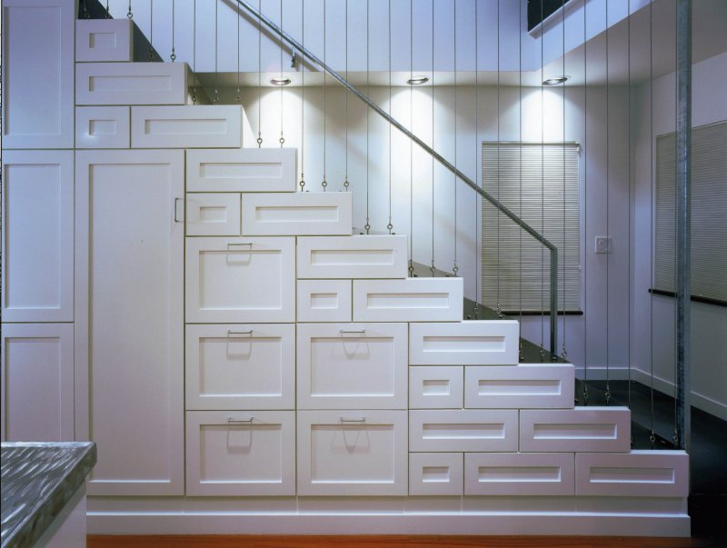 basement stairs storage
