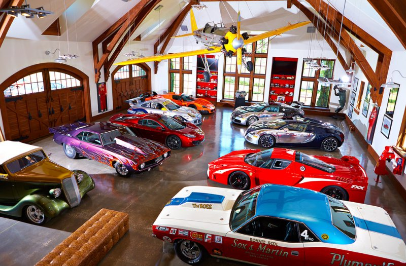 car collector man cave