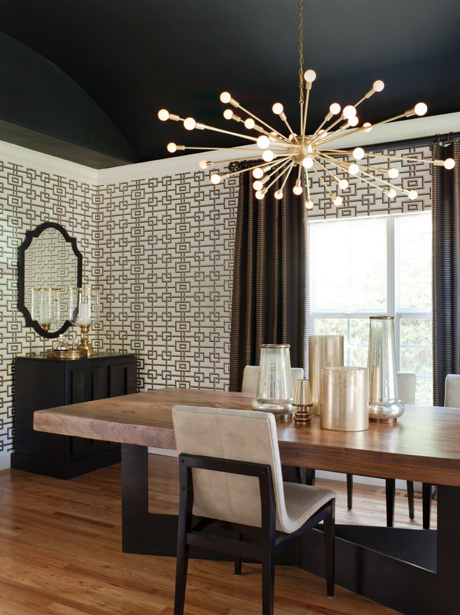 contemporary dining room sputnik chandelier