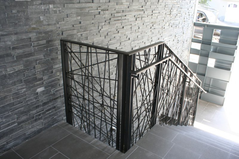 contemporary wrought iron railing