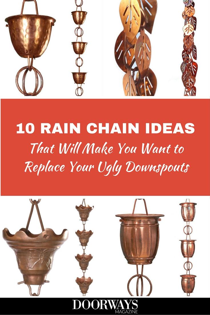 copper rain chains pinterest