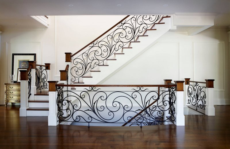 flower design iron railing