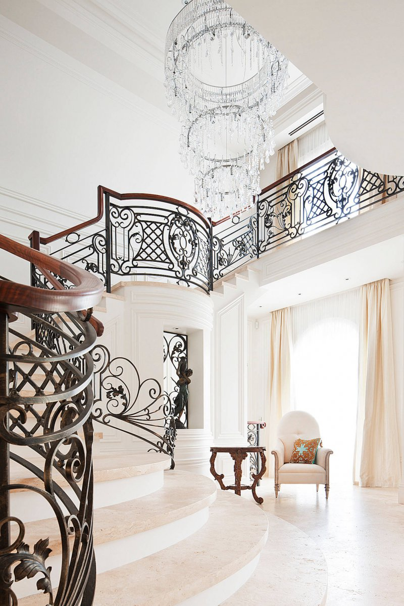 intricate staircase railing