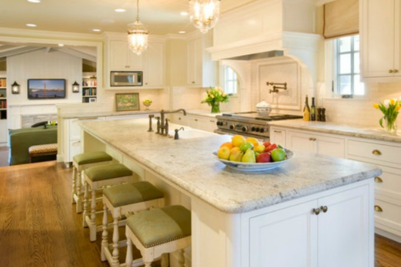 Design Guide: Kashmir White Granite Countertops
