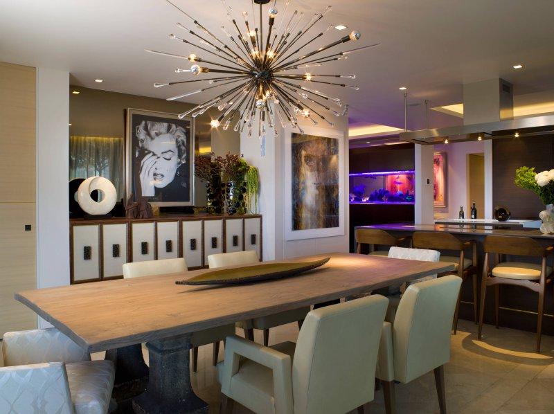 modern dining room sputnik_chandelier