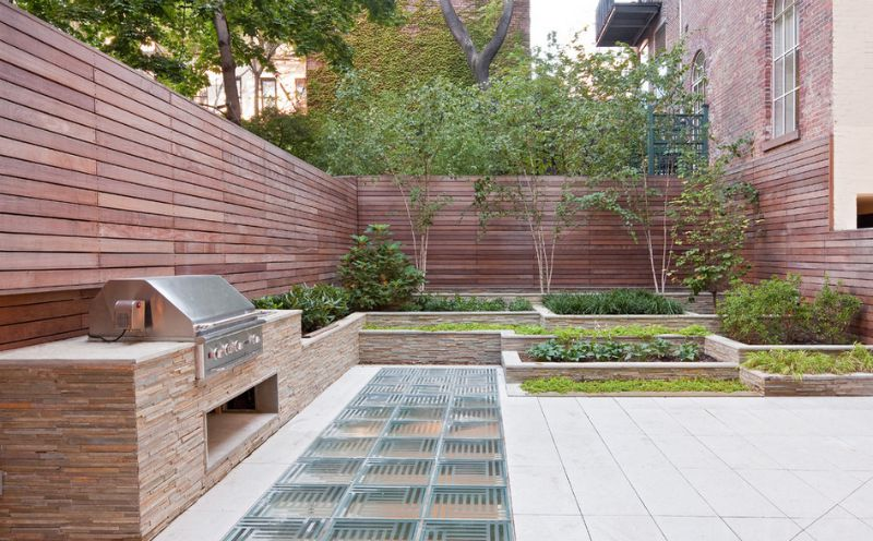 Backyard Wood Fence Ideas modern home privacy garden fence ideas wooden fence backyard Photo Via Turett Collaborative Architects