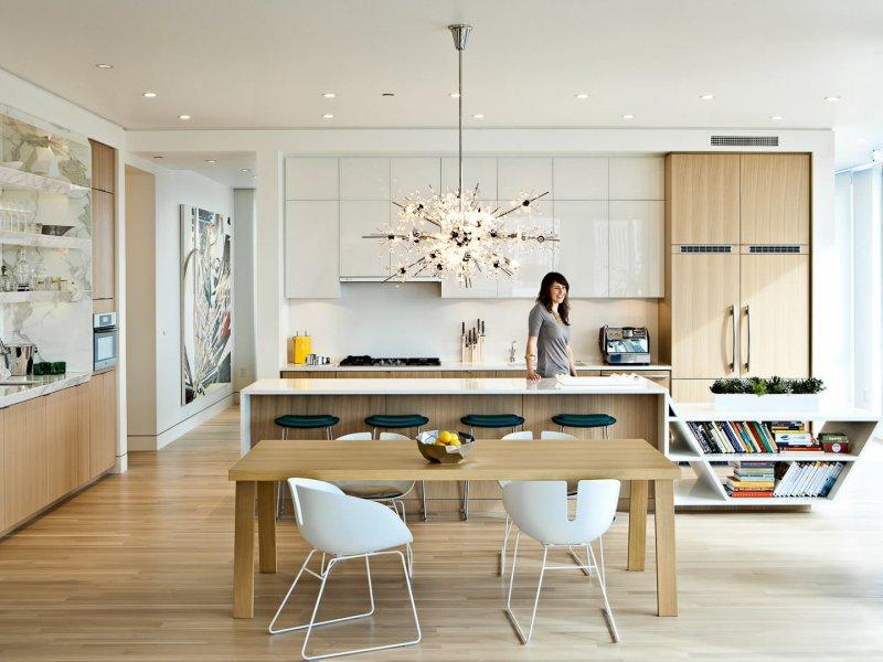 open kitchen sputnik chandelier