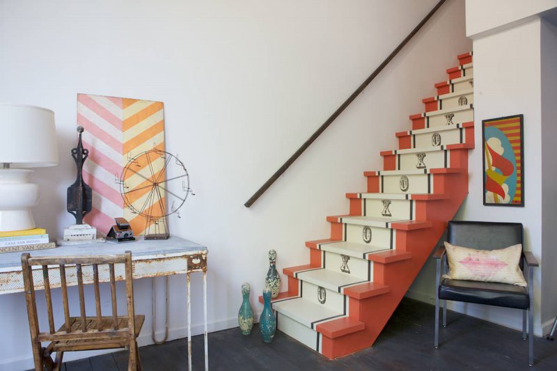 11 ways to give your basement stairs a makeover. Black Bedroom Furniture Sets. Home Design Ideas