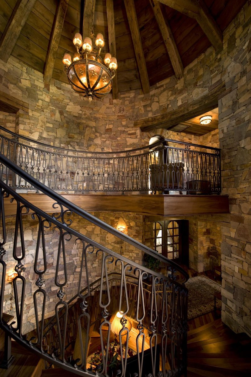 rustic wrought iron railing
