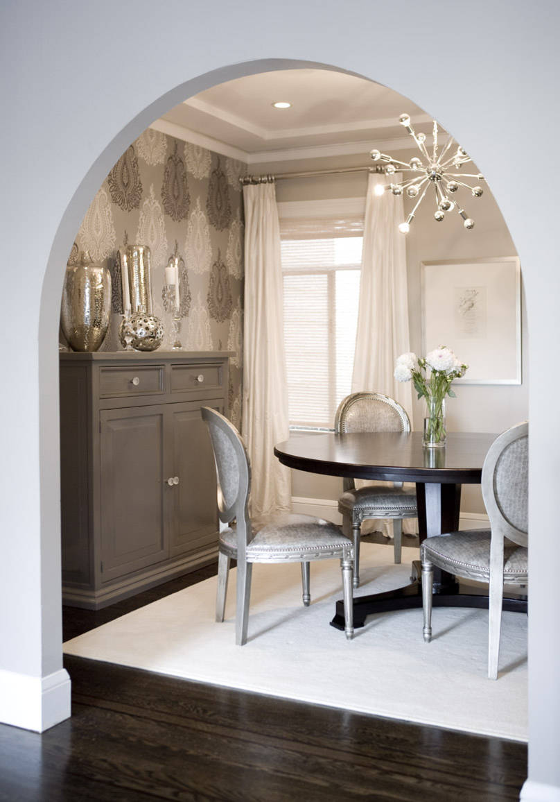 Silver and Gray Dining Room