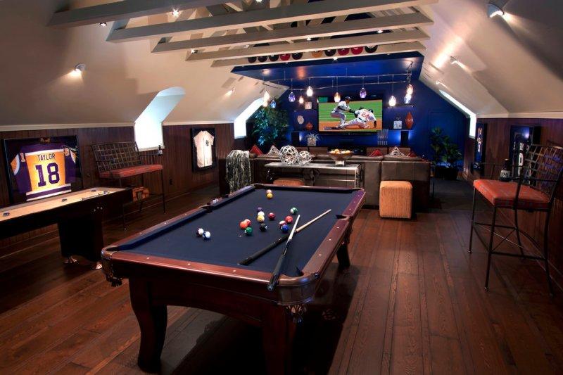 sports theme attic