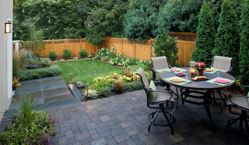 Backyard Fences Ideas bamboo fence system with different height as the board of outdoor areas Backyard Fence Designs Photo Via Southview Design