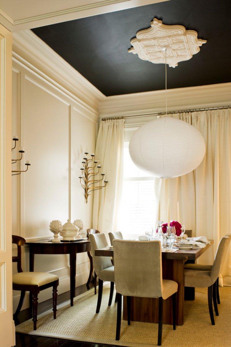 transitional dining room ceiling medallion