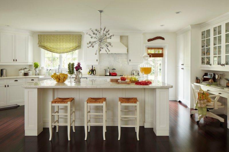 white kitchen sputnik chandelier