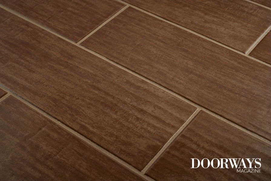 Not only does the tile look like wood but it also has grain texture, too.  Cool, huh? - Pros And Cons Of Tile That Looks Like Wood - Doorways Magazine